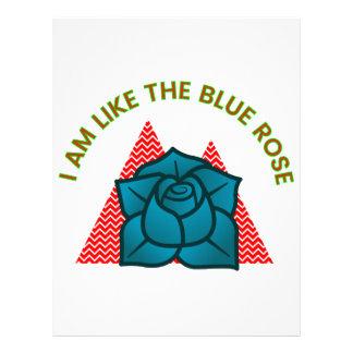 I am like the blue rose letterhead