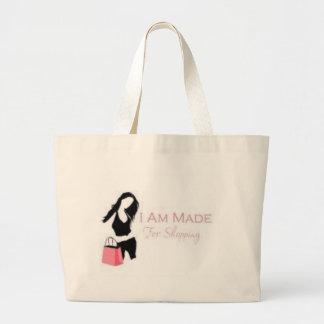 I am made 4 Shopping <3 Jumbo Tote Bag