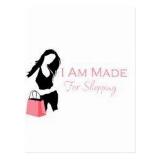 I am made 4 Shopping <3 Postcard