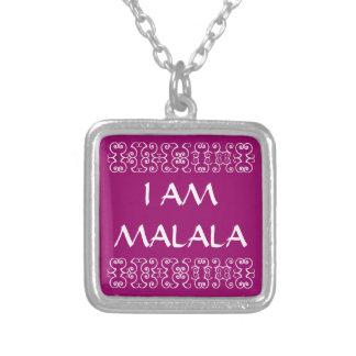 I AM MALALA 2 SQUARE PENDANT NECKLACE