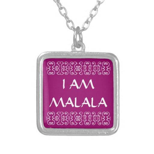I AM MALALA 2 CUSTOM NECKLACE