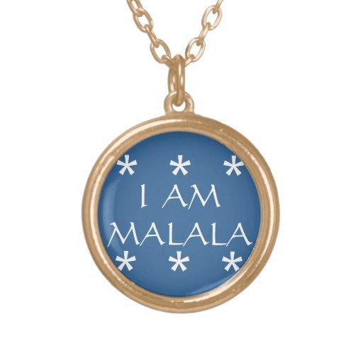I AM MALALA 3 CUSTOM NECKLACE