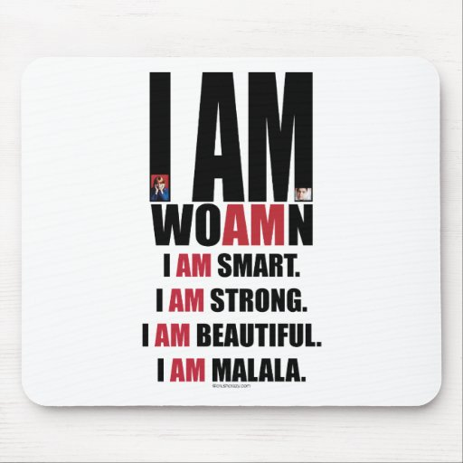 I AM MALALA MOUSE PADS