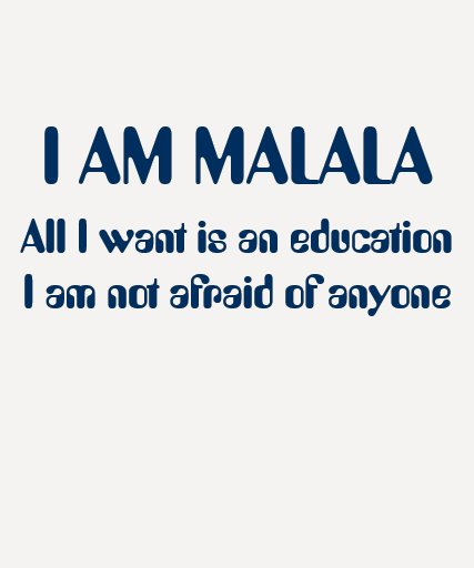 I Am Malala Not Afraid of Anyone T Shirts