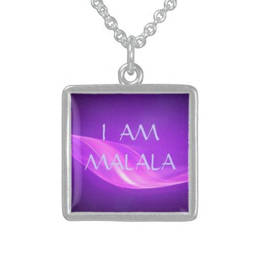 I Am Malala Purple Design Necklace
