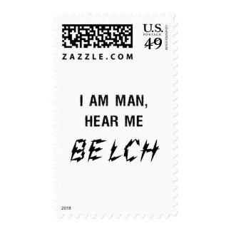 I am man postage stamp