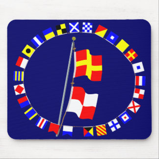 I am maneuvering with difficulty Signal flag Hoist Mouse Pad