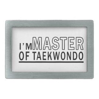 I am master of Taekwondo Rectangular Belt Buckle