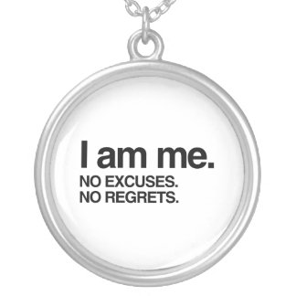 I AM ME SILVER PLATED NECKLACE
