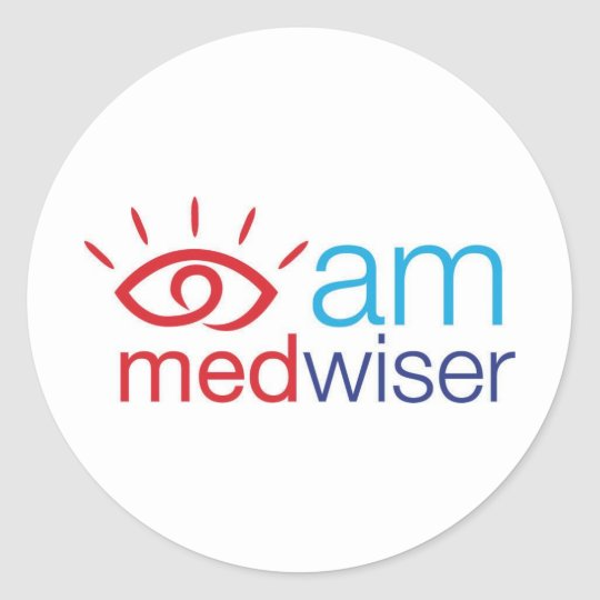 I am Medwiser Classic Round Sticker