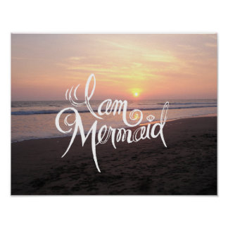 I Am Mermaid - Typography Poster