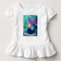 I Am Mermazing Ruffled Shirt Mermaid & Seahorse