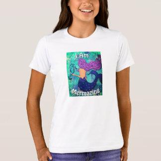 I Am Mermazing Youth Shirt Mermaid & Seahorse