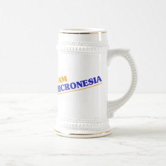 I am Micronesia 18 Oz Beer Stein