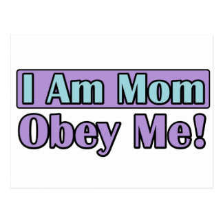 I Am Mom, Obey Me! Postcard