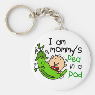 I Am Mommy's Pea In A Pod Key Chains