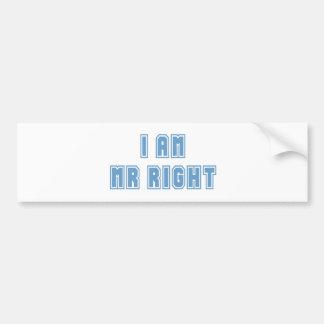 I am Mr Right Bumper Sticker