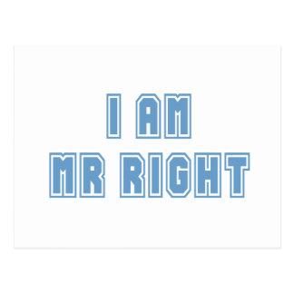 I am Mr Right Postcard
