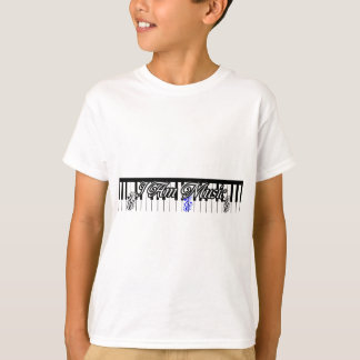 I Am Music-Piano keys,music notes_ T-Shirt