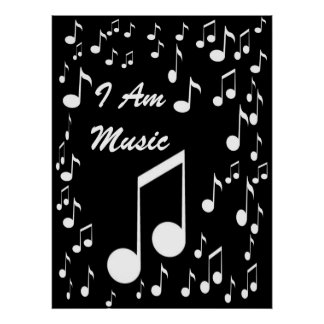 I Am Music Poster_ by Elenne Boothe Poster
