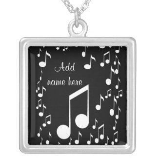 I am music_ square pendant necklace