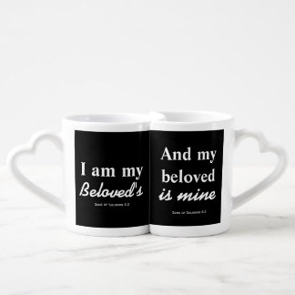 I am my beloved's and my beloved is mine couples' coffee mug set