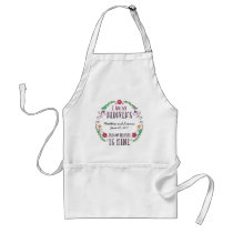I Am My Beloved's, Wedding Date Watercolor Adult Apron