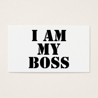 I am My Boss. Slogan. Business Card