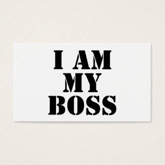 I am My Boss. Slogan. Business Card