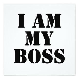 I am My Boss. Slogan. Card