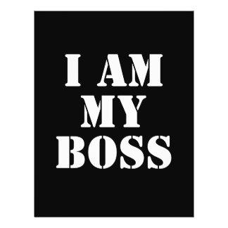 I am My Boss. Slogan. Flyer
