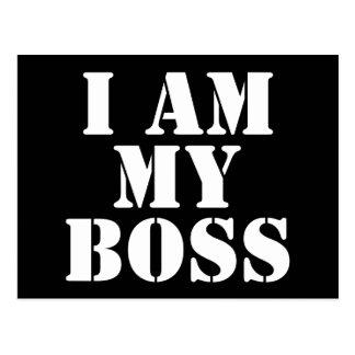 I am My Boss Slogan Postcards