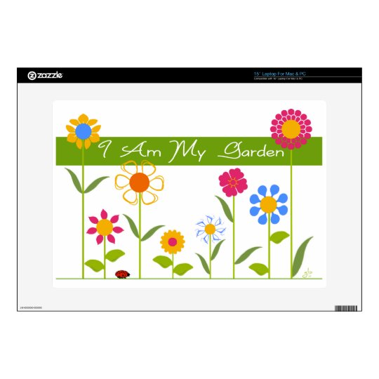 I Am My Garden Laptop Decals