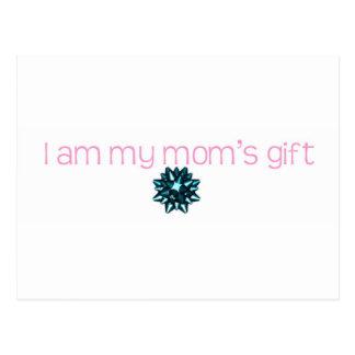 I am my moms gift postcard