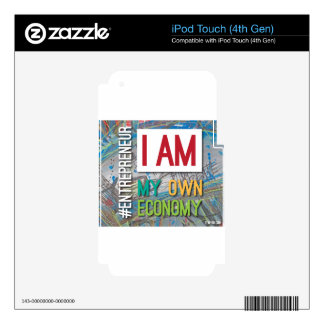 I am MY own Economy. iPod Touch 4G Decal