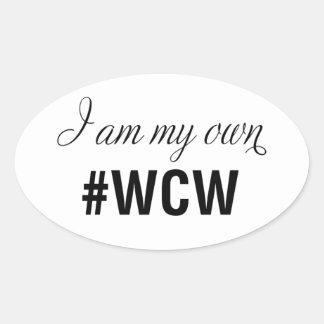 I am my own Woman Crush Oval Sticker