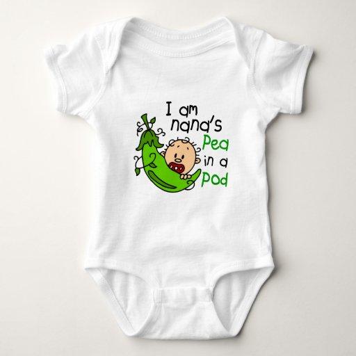 I Am Nana's Pea In A Pod 1 Baby Bodysuit | Zazzle