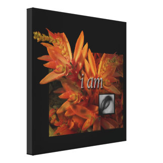 I Am Natural Woman Nature Wrapped Canvas Print