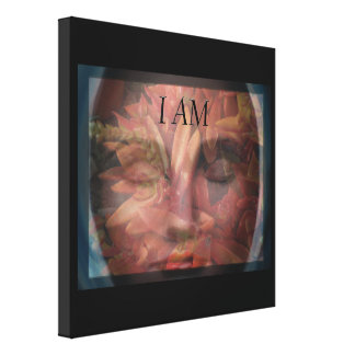 I AM Natural Woman Wrapped Canvas Print