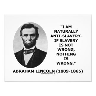 I Am Naturally Anti-Slavery Slavery Is Wrong Quote Personalized Invites