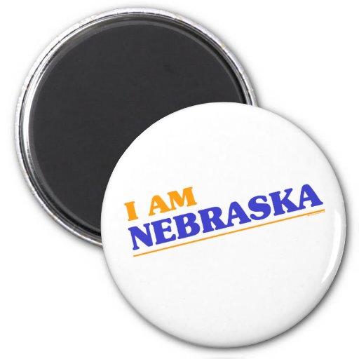 I am Nebraska shirts Magnets