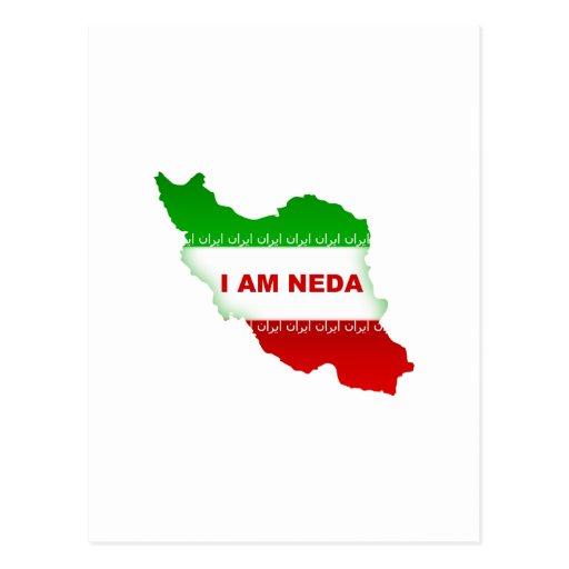 I am Neda Post Cards