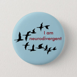 I am neurodivergent button