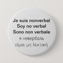 I am nonverbal in 5 languages button