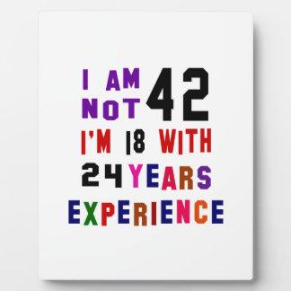 I am not 42 display plaques