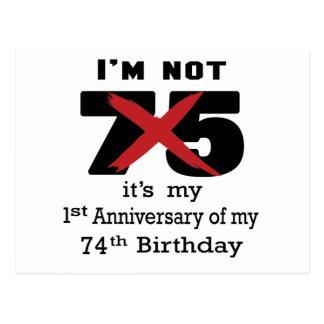 I am not 75 postcard