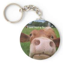 I am not a burger. keychain