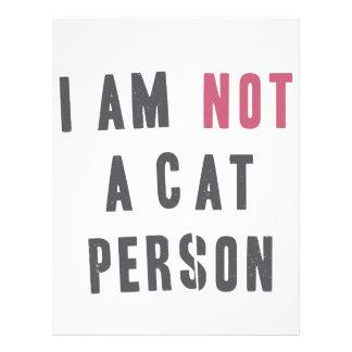 I am not a cat person letterhead