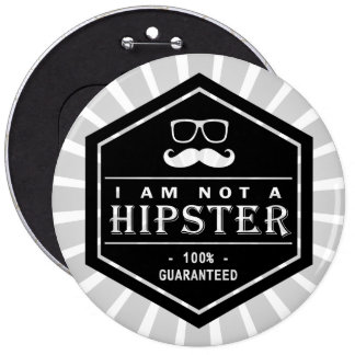 I am not a Hipster 100 Guaranteed Funny Mustache Pins