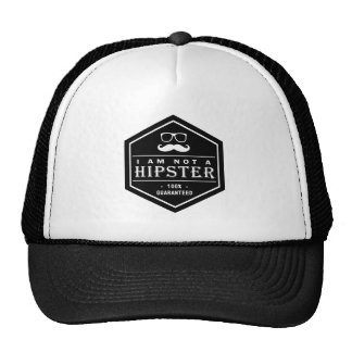 I am not a Hipster 100% Guaranteed Funny Mustache Trucker Hats